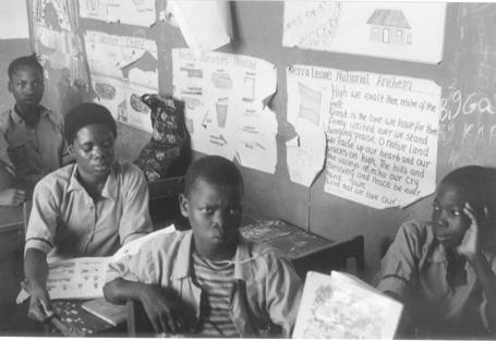 ecole afrique sierra leone enfants soldats réinsertion