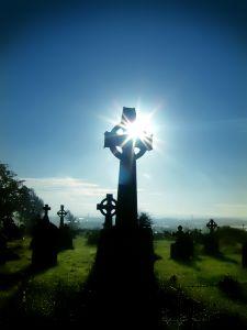 deuil, départ, cimetière
