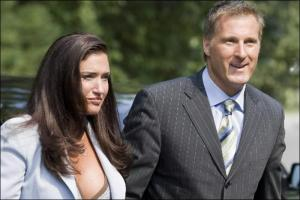 Photo de Julie Couillard et Maxime Bernier