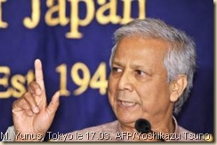 Muhammad Yunus le 17 mars à Tokyo. Photo AFP/Yoshikazu Tsuno