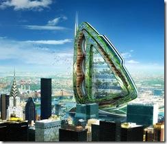 architecture futuriste maison écologique environnemental